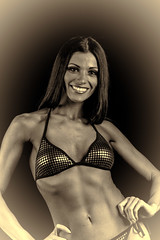 Hot Female Fitness Contestant (Rick Drew - 19 million views!) Tags: fitness workout model heels bikini brunette pose posing posed rip ripped healthy fit