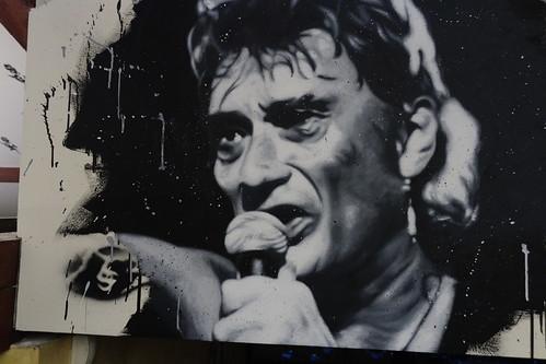 Johnny Hallyday painted portrait DXO_1382