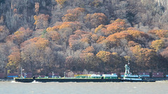 Tug, Barge & Train (blazer8696) Tags: 2017 coldspring ecw ny newyork t2017 usa unitedstates barge boat dscn2417 hudson nywsb pinuccia railroad river shore tug tugboat west westshore