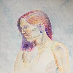 CCAC 12.2.17 #lifedrawing in#crayon (Howard TJ) Tags: drawing female lifedrawing crayon