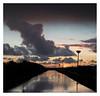 Sunset road (leo.roos) Tags: reflection weerspiegeling twilight sunset zonsondergang monster westland meyerprimotar5028 1959 exakta a7rii week502017 dyxum challenge darosa leoroos day2
