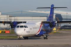 G-IACY - 2017 build ATR 72-600, lining up for departure on Runway 23L at Manchester (egcc) Tags: 1448 72600 atr atr72 avionsdetransportregional bristow egcc eze easternairways giacy lightroom man manchester ringway t3