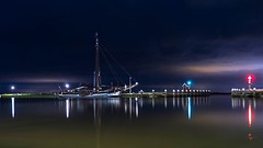 * (Timos L) Tags: night nightshot lights reflection calm volendam eden holland netherlands dutch seaside seascape olympus omd em5ii panasonic 123528 travel photography timosl