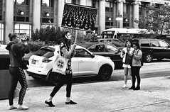 Society of the Spectacle (draketoulouse) Tags: chicago loop michigan ave street streetphotography blackandwhite monochrome people woman city urban traffic debord
