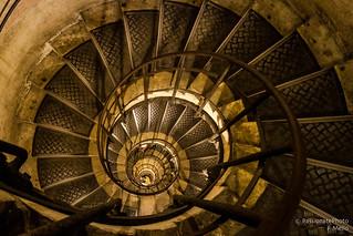 Spiral stairs, Arc de Triomphe