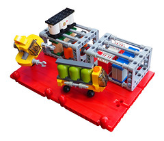 Blwch Mawr Container Port (David Roberts 01341) Tags: lego microscale space spaceship spaceport vicviper nnovvember scifi truck lorry transporter