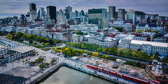 Aerial view of City Skyline from Old Port Montreal Quebec Canada (mbell1975) Tags: montréal québec canada ca city skyline from old port montreal quebec aerial view vista waterfront water front harbor harbour st lawrence saint ste river gateway