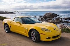 GS Corvette, Pacific Grove (MiguelVP) Tags: corvette car sportcar yellow ocean pacificgrove