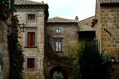 Civita Bagnoregio.. Love this place! (moniq84) Tags: civita bagnoregio viterbo lazio italy town city ancient medieval stone nature window green place love nikon lamp winter