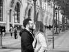 French kiss n. 2 (Franco & Lia) Tags: street photographiederue fotografiadistrada paris parigi france francia champselisées frenchkiss bacio baiser noiretblanc blackandwhite biancoenero petertournley
