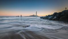 Posts - Lighthouse - Rocks (ianbrodie1) Tags: stmarys posts lighthouse rocks water sea seascape sunrise sky colour leefilters coast coastline ocean