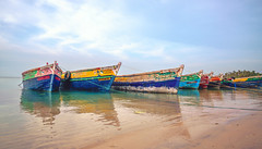 Boats docked at Rameswaram (Dhina A) Tags: sony variotessar t fe 1635mm f4 za oss a7rii ilce7rm2 a7r2 india rameswaram water sea boats docked