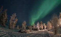 snowmobiles under aurora 16.11.2017 (Hotel Korpikartano) Tags: auroraborealis aurora revontulet korpikartanofi menesjarvi hotelkorpikartano inarilapland laplandfinland lapland lappi