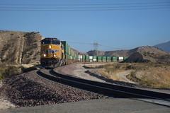 Descending the Pass (CrispyBassist) Tags: railroad railway train track california unionpacific up uprr cajonpass mountain