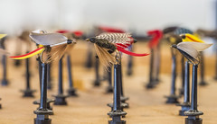 Flies fit for fishing... (Artbywigs) Tags: 2017 deomonstrations exhibition fishing flyfishing flytying guilds ifish ifish2017 november people sussex wigs