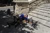 avignone explored (Fabrizio Diletti (Fermo, Italia)) Tags: uomo man street strada scale chair sun sole france francia avignone avignon provence provenza explored inexplore