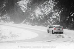 323/365 - No Plough, No Problem (Jacqueline Sinclair) Tags: snow subaru drive car snowing heavy road curve corner tires wrx sti driving slip slide slippery winter
