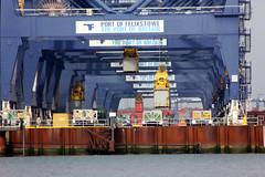 Hanging Around (Yorkshire's Finest) Tags: portoffelixstowe felixstowe port shippingcontainer