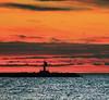The ineffable wait (Robyn Hooz) Tags: faro sottomarina diga dam mare sea water beacon dawn sunrise alba albeggiare horizon orizzonte