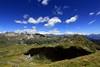 Val d'Aosta . Valle di Saint Barthlemy: Col Chaleby, da sx, il Morion, in fondo il gruppo del Monte Rosa e piu' a sx la Cima Bianca e lo Tzan (mariagraziaschiapparelli) Tags: montagna mountain valdaosta valledisaintbarthlemy colchaleby allegrisinasceosidiventa escursionismo camminata colle estate