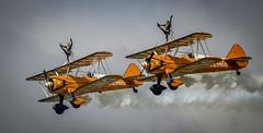 130825_Dunsfold_0136 (dandridgebrian) Tags: airshow dunsfold wingswheels airdisplay breitlingwingwalkers biplanes breitlingwingwalker boeingstearman