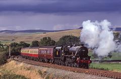 45407 (45157) Near Hellifield. 19/08/2000 (briandean2) Tags: 45407 hellifield steam railways uksteam ukrailways