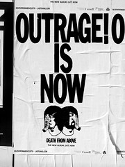 Death from Above (knightbefore_99) Tags: poster art band music bw black white album cool outrage now death above loud duo canada rock best awesome