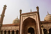 Jama Masjid: A closer look (journyes) Tags: jama masjid mosque newdelhi delhi india indian tourism travel incredible architecture sunset warm brown white arch doors building people