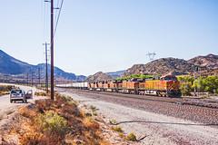 BNSF4489+4496+7477+5102+4827 on an eastbound trailer train. Cajon Pass. 17September2009 (mikul44171) Tags: jeep 4489 bnsf cajonpass trailertrain