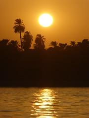 Sunset (Aidan McRae Thomson) Tags: nile river egypt sunset water light