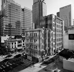 San Francisco (bior) Tags: hasselblad500cm sanfrancisco trix kodaktrix distagon 120 mediumformat 6x6cm street financialdistrict towers chinatown