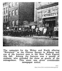 1922 notoriety at the clinton square theatre (albany group archive) Tags: albany ny history 1922 notoriety silent film movie orphans stunt publicityclinton square theatre 1920s old historic historical photo photograph picture vintage photos