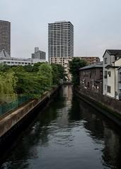 Chuo, Tokyo. Jun 2017. (sandman_kk) Tags: tokyo japan city urban river perspective buildings sky