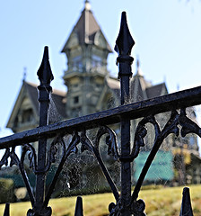 The former William Carson Mansion (dstrong2071) Tags: william carson mansion ingomar club depth field spider webs rot iron fence