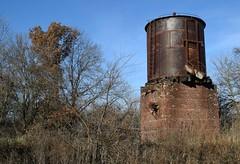 tanked (David Sebben) Tags: water tank abandoned rust strip mines knox illinois galesburggreateasternrailroad