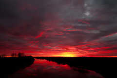 alba-sul-canal-bianco (claudiomantova1) Tags: cielo tramonto sky