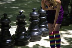 A Pawn Perspective (swong95765) Tags: chess pieces woman female lady eyes cute huge size porportion