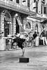 P1120994 (Francesco Pala) Tags: bw street people dance monochrome roma boy guy