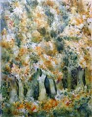 Colores de otoño (benilder) Tags: trees watercolor watercolour árboles arbres aquarelle acuarela paisaje otoño colores benilde