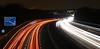 Light Trails 2. (MWBee) Tags: m56 motorway lighttrails mwbee nikon d750 manual daresbury cheshire prestonbrook sign junction11