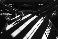 (cherco) Tags: stairs solitario solitary silhouette silueta shadow sombra street shadows sombras station man 60d lonely light lines lineas geometry geometric blackandwhite blancoynegro composition composicion canon city ciudad urban repetition s arquitectura architecture