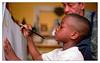 Enfant roi (Jean-Marie Lison) Tags: v700 scannégatif enfant pinceau peinture