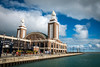Chicago Navy Pier on the banks of Lake Michigan. (ho_hokus) Tags: 2016 chicago fujix20 fujifilmx20 il illinois lakemichigan navypier usa water beergarden lake architecture