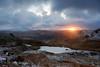 Sunrise over Llyn Llydaw (Rob..Hall) Tags: robhall squarephotography wales uk snowdon snowdonia llynliydaw sunrise winter lake landscape