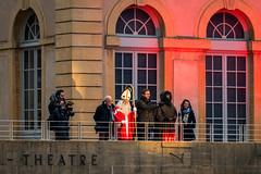 Saint Nicolas et le Père Fouettard sur le balcon du Thêatre de la Comédie (Πichael C.) Tags: metz ville fête noël city 57 sortie saint nicolas parade défilé et le père fouettard sur balcon du thêatre de la comédie