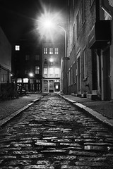 Streets of Philadelphia (Valley Imagery) Tags: philadelphia 2017 lane cobblestones contrast night dark lights long exposure sony a99ii sigma 35mm bodine st elbow
