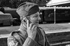 DSG_1797_LR.jpg (Paul Harris UK) Tags: wartime steamthroughtheages phone reenactment sussex horstedkeynes mobile bluebellrailway soldier homeguard station incongruous juxtaposition