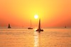 Sailing in a golden sea - Tel-Aviv beach (Lior. L) Tags: sailinginagoldenseatelavivbeach sailing golden sea telaviv beach silhouettes sky travel silhouette telavivbeach goldensea