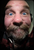 Big Nose. . . (CWhatPhotos) Tags: beard goatee crazy stupid big nose smile daft happy fuck get life sad bastards getalife photographs photograph pics pictures pic picture image images foto fotos photography artistic cwhatphotos that have which with contain olympus digital camera lens em5 mkii samyang fisheye 75mm aspherical manual micro self portrait eyes eye look wide angle closeup fish view