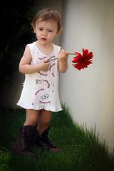 My Princess (jacinto_udi) Tags: filha sun daughter child flor 70d mm 55250 eos canon iso zoom foco jardim garden flower dia retrato p portrait